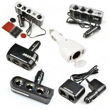 6 Types Car Socket Splitter Car Charger Cigarette  USB Port DC 12V/24V