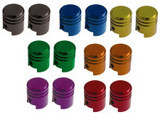 Savage Alloy Anodised Piston Design Bike Valve Caps 7 Colours Available SVVP001