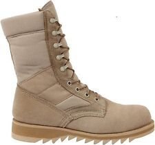 """Desert Tan Military Heavyweight Ripple Sole 10"""" Jungle Leather Boots"""