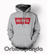 Grey Hoodie with ELVIS PRESLEY Levis Parody - Funny Comedy jeans king