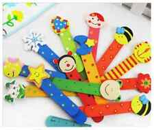 ♥ Kawaii cute animal multi colour wooden ruler bookmark novelty kids gift UK ♥