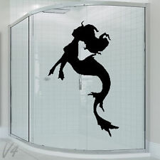 Bathroom Cartoon Funny Sexy Girl Woman Lady Mermaid Wall Art Decal Vinyl Sticker