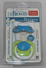 Dr. Brown Stage 3 Perform Othordontic Pacifiers Nuks Soothers 2-Pack Girls Boys
