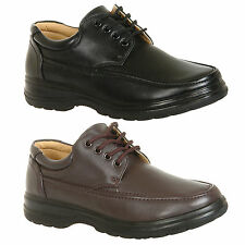 Mens New Black Brown Casual Lace Up Shoes Size 6 7 8 9 10 11 12 Free Uk Postage