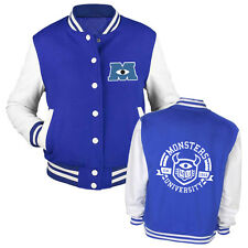 Monsters Inc 2 Varsity Jacket Blue | University Mike Sully | Adults & Kids Sizes