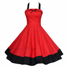Maggie Tang 50s Retro VTG Pinup Rockabilly Swing Dress Cos Party Prom S-502