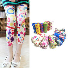 Girls Stretch Tights Skinny Pants Long Stockings Leggings Trousers 5-12 Years