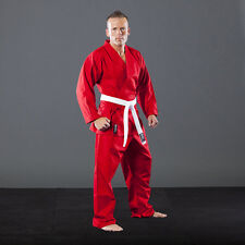 KARATEGI RED POLY 8 ONCE ADULT STUDENT SUIT MARTIAL KARATE JUJITSU JUJUTSU GI KI