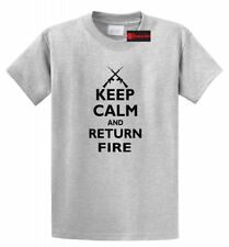 Keep Calm And Return Fire - Funny Political Bear Arms Gun Rights Hunting T Shirt