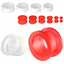 ear plugs piercing 2 pairs acrylic screw flesh tunnels gauge stretching kit 9RGT