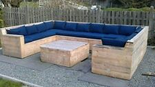 PALLET SEATING FOAM WITH WATERPRROOF CANVERS FABRIC COVER,:L:120CM X 90CM X 5CM
