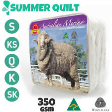 WINTER WEIGHT-Single/KS/Double/Queen/King AUS MADE100% Wool Quilt 500GSM