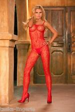 *CROTCHLESS FLORAL LACE BODYSTOCKING  -QUEEN SIZE: (1X-3X)  -FREE SHIPPING USA