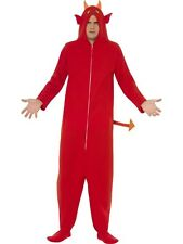 """Funny Adult """"Nothing But Trouble"""" Devil Mens Halloween Party Fancy Dress Costume"""