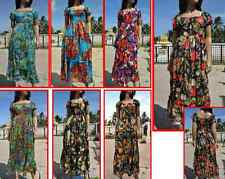 Thai Summer halter Boho beach hawaiian hippie floral long sundress S M L