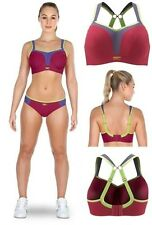 Panache Sports Sport Bra Crop Top 5021 Raspberry Red with option for Racer Back