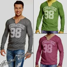 NEW MEN'S LONG SLEEVE SHIRTS for MEN CASUAL WEAR CLOTHES MENS V NECK shirt TOP