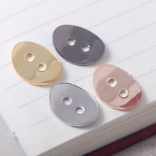 Antique style curved oval Button For Wrap Bracelets 2mm Hole Fit 1.5mm DIY