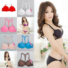 Sexy Fashion Womens Front Closure Lace Racer Back Racerback Push Up  extra 2Belt