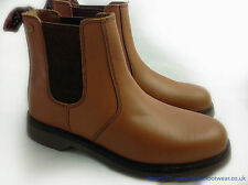 New Mens Dealer Chelsea Boot Tan Brown Leather Smart Working  Air Cushion Sole