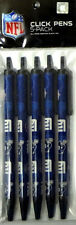 NFL Licensed Pack of 5 Click Pens NEW Black Ink Pick Your Team!! Fast Shipping!!