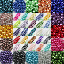 Wholesale  Fashion Round Glass Pearl Spacer Beads 4/6/8 /10mm 23 Colors NEW