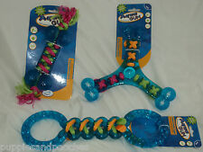 Aqua Gum Interactive Rubber & Rope Floating Dog Toys - Tristar - Bone & Tugger
