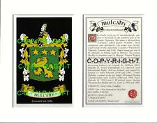 MULCAHY Family Coat of Arms Crest + History - Available Mounted or Framed