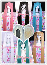 120CM long VOCALOID MIKU clip on Ponytails 6 colors cosplay Wig + a wig cap