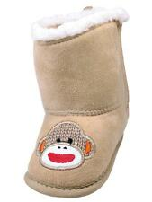 Boys Ryder Infant Velcro Sides Sock Monkey Soft Sole Boots By Baby Starters
