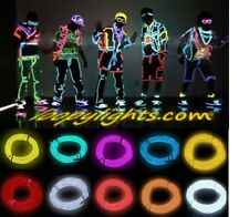 EL NEON GLOW WIRE LIGHT +BATTERY PACK * FESTIVAL * PARTY * FANCY DRESS LIGHT KIT
