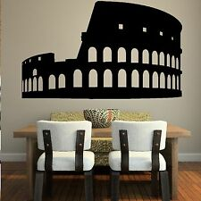 Coliseum Rome Attraction Landmark Wall Sticker Modern Art Design Graphic CU17