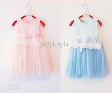 **Summer Girl's sleeveless Dress style Lace Net yarn lovely Girls Princess Dress