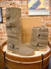 Matt Bernson Gray Suede 2 in 1 Moto Riding Boots NEW