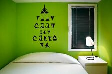 'Keep calm and carry on' in Klingonian - Star Trek Universe Wall Sticker. New!