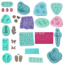 Silicone Clay Mold Mould for Fondant Sugarcraft Chocolate Candy Cake Decorating