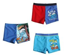 New Boys Smurfs Swimming Shorts Trunks Official Smurfs Swimwear Age 3-10 Years