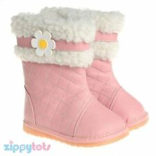 Little Blue Lamb Baby Boots Pink PU Leather Girls Winter Toddler Squeaky Infant