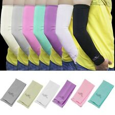 Sun UV Block Arm Sleeves Warmer Cool Cover Cycling Golf Fishing Climbing 2 PCS