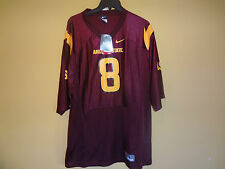 New Nike Mens Arizona State Sun Devils Football Jersey #8 Pat Tillman Patch