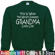 Worlds Greatest GRANDMA Mothers Day Birthday Christmas Gift SWEATSHIRT Sm - 5XL