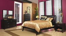 Nevis Low Profile Sleigh Bedroom Set in Espresso Finish [ID 257545]