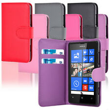 For Nokia Lumia 520 Soft PU Leather Wallet Flip Case Cover