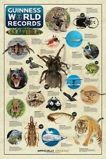 New Extraordinary Creatures Guinness Book of World Records Poster