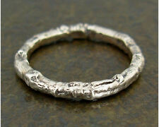 Twig Ring Sterling Silver Band, Pinky - Plus Size, Sz 1.5-10 Wild Rose Twig Ring