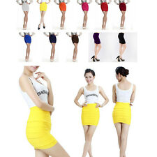 Candy Colors Girl Women Lady Mini Skirt Slim Fit Seamless Stretch Tight Fitted K
