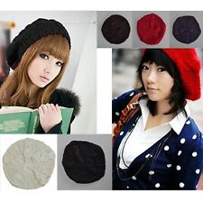 New Women Lady Winter Warm Knitted Crochet Baggy Beret Beanie Hat Fashion Cap