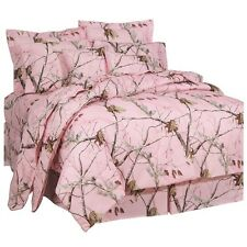 Girls Realtree® AP Pink Camo Comforter Set & Sheets~Bed in Bag~Twin Full Queen