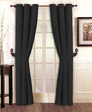 "Stylish Solid Micro Suede Window Curtain Set Grommet Top (2 panels - 40"" x 84"")"