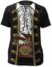 CAPTAIN JACK SPARROW PIRATE PRINCE COSTUME OUTFIT T SHIRT TEE S-2XL